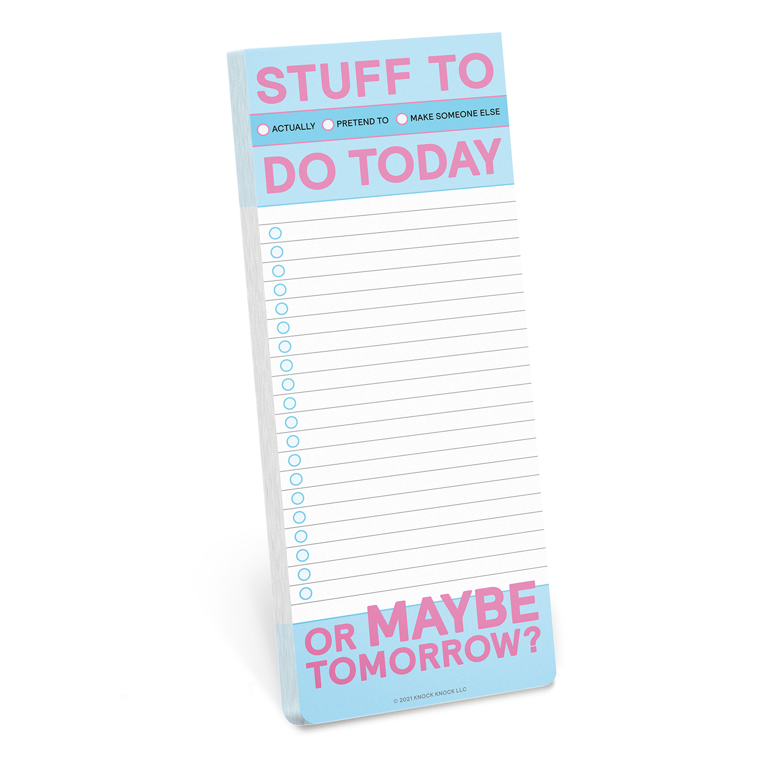 Make a List Pad: Stuff To Do Today