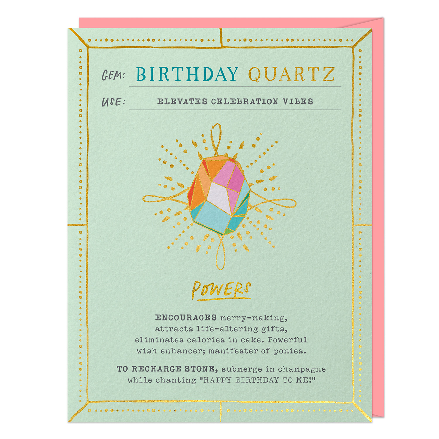 Fantasy Stone Card: Birthday Quartz