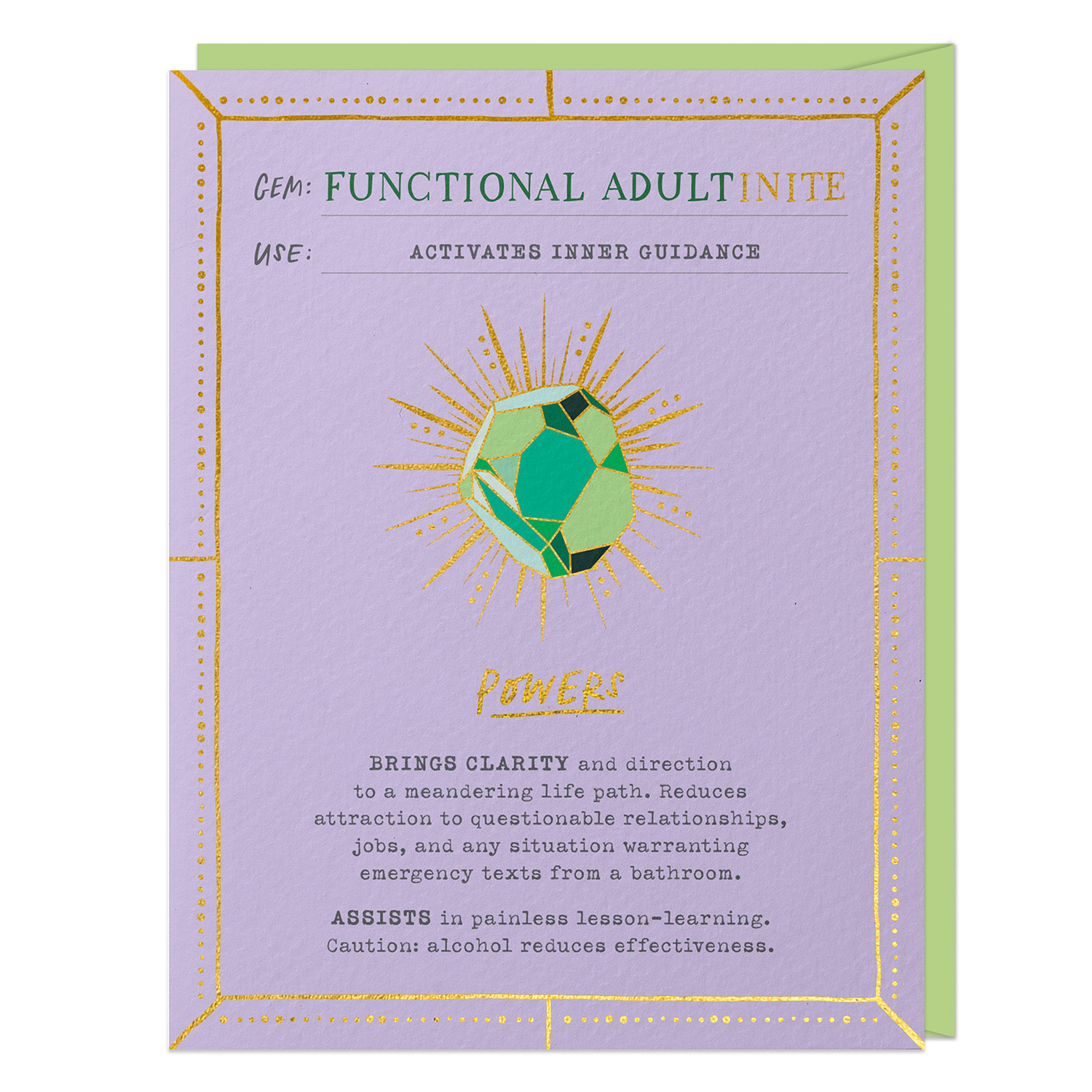 Fantasy Stone Card: Functional Adult