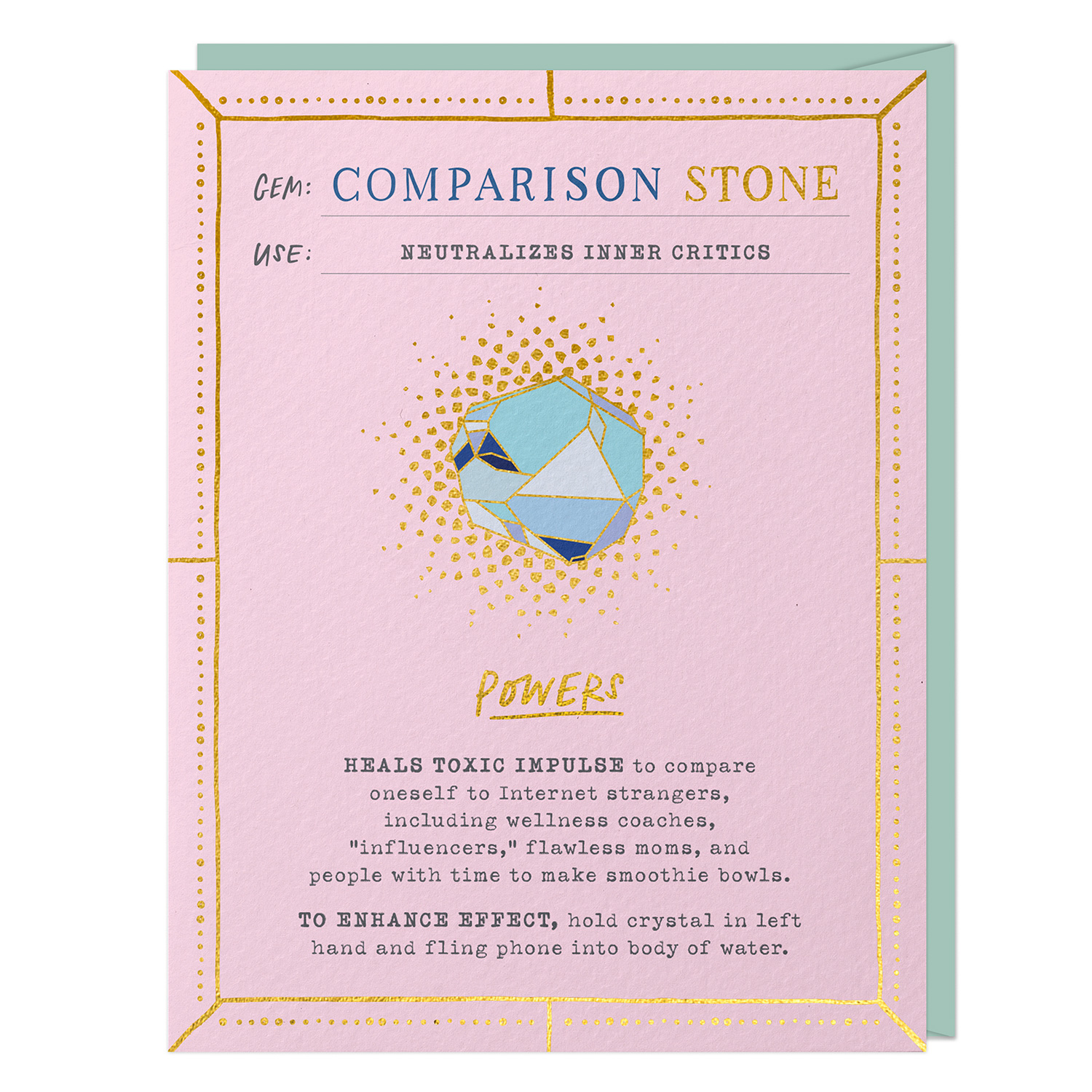 Fantasy Stone Card: Comparison Stone