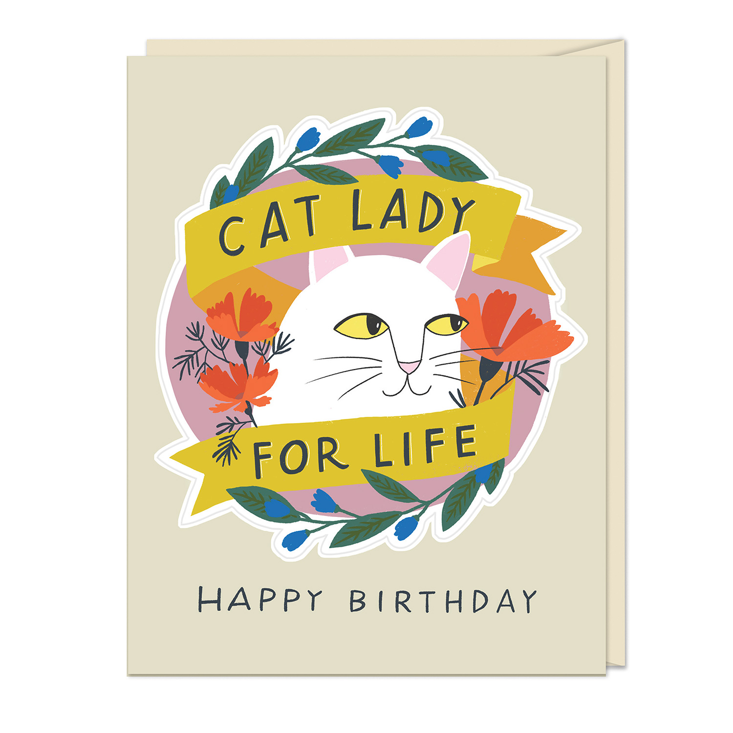 Sticker Cards: Cat Lady for Life