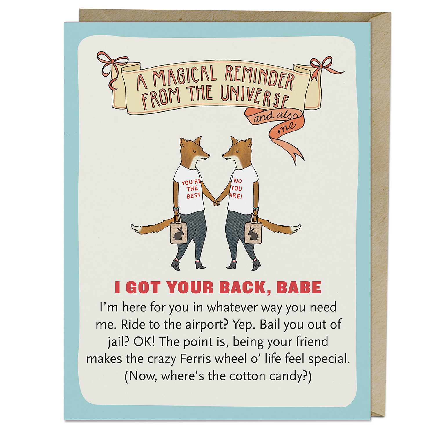Affirmators! Cards: I Got Your Back, Babe