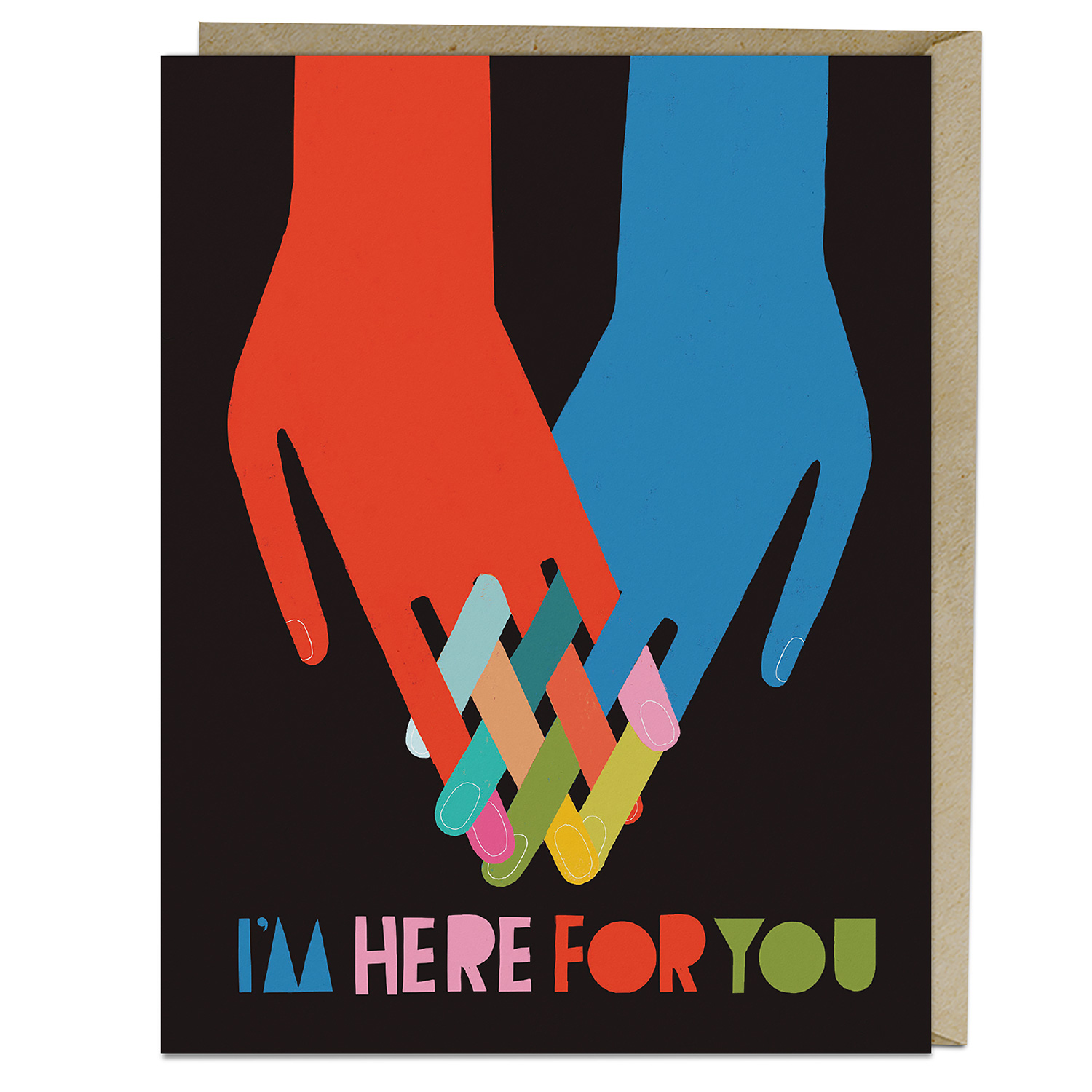 Lisa Congdon Card: I'm Here for You