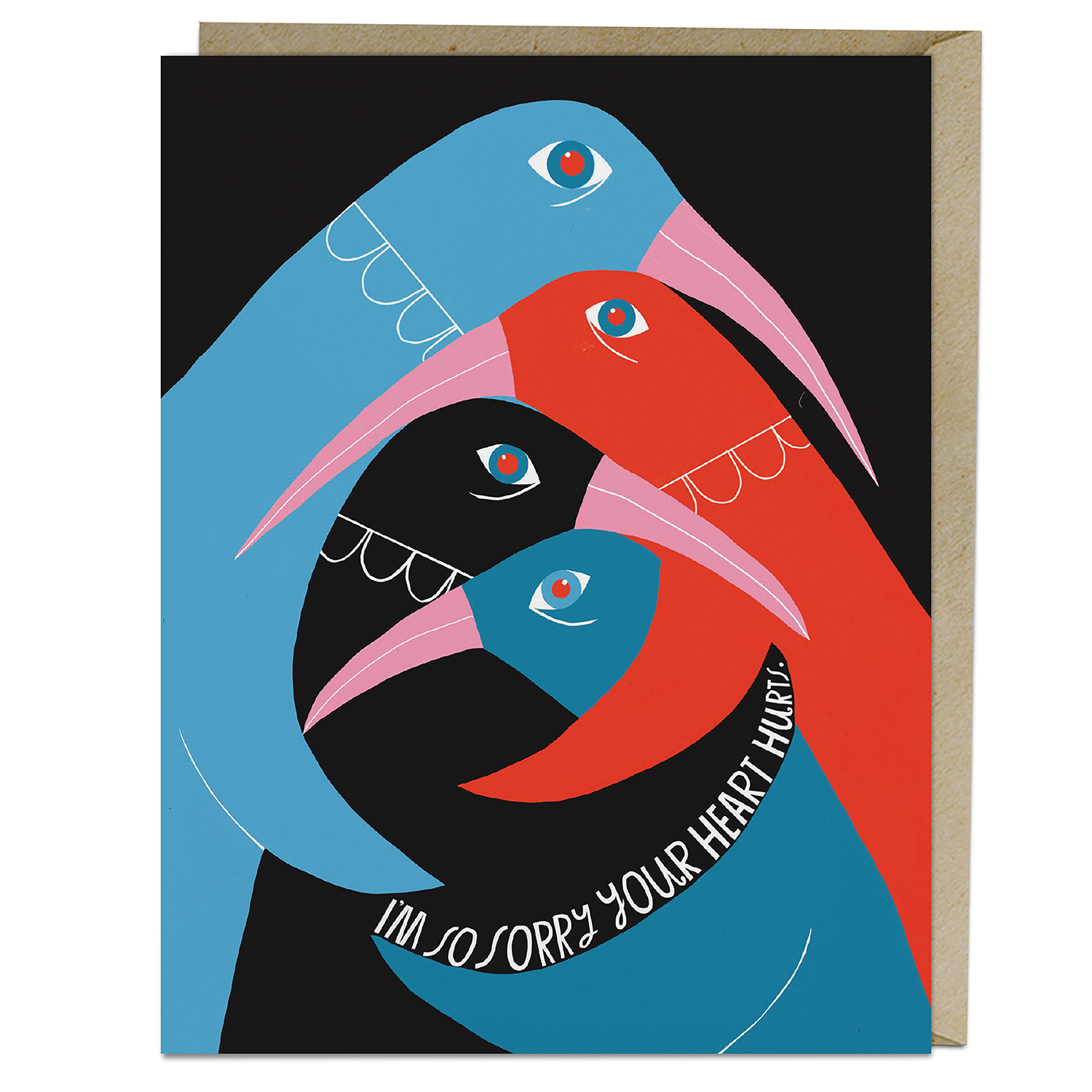Lisa Congdon Card: So Sorry Your Heart Hurts