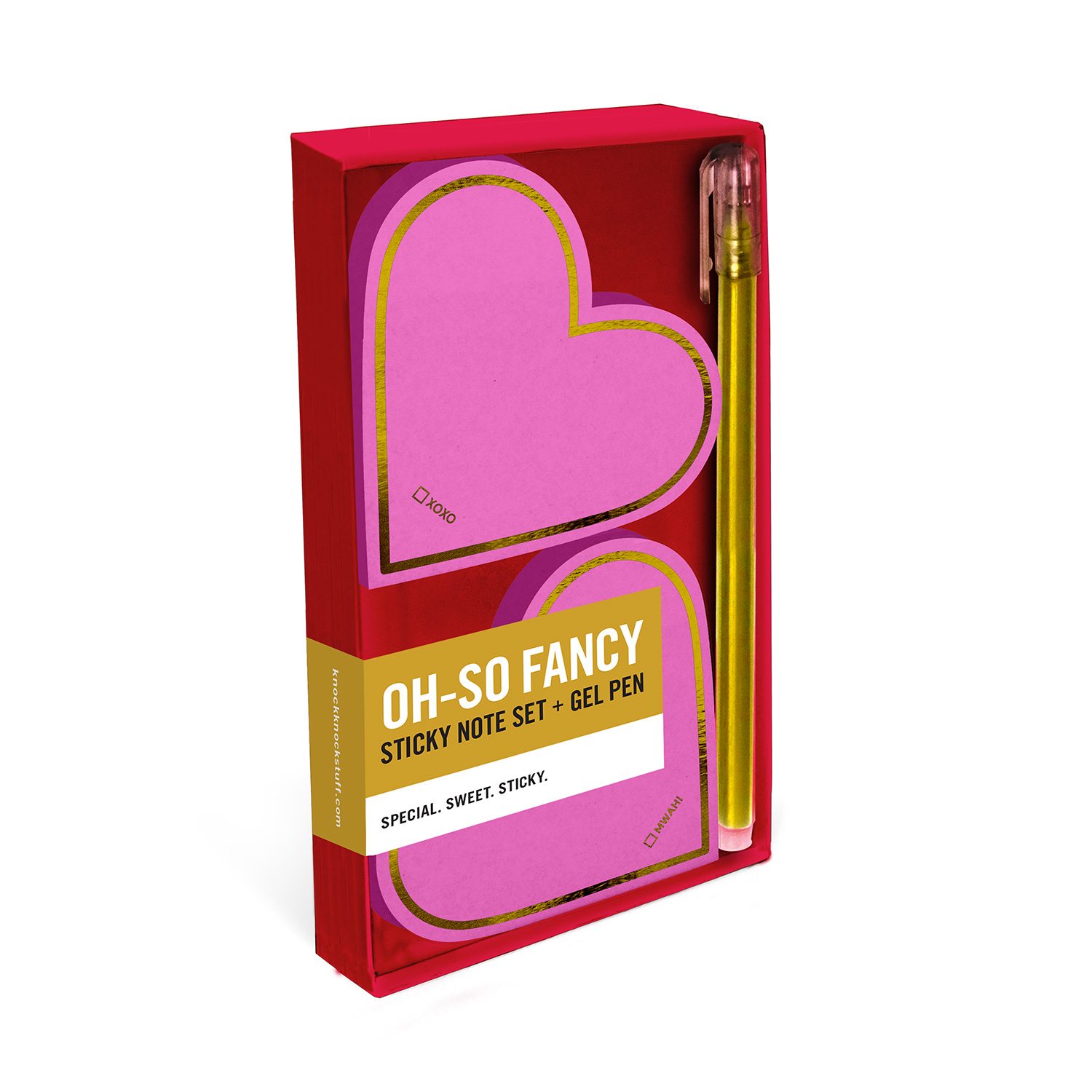 Oh-So Fancy Sticky Sets with Gel Pen: Two Hearts