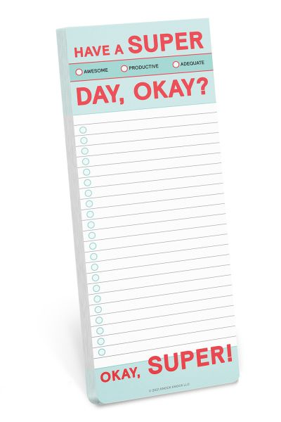 Make a List Pad: Have a Super Day