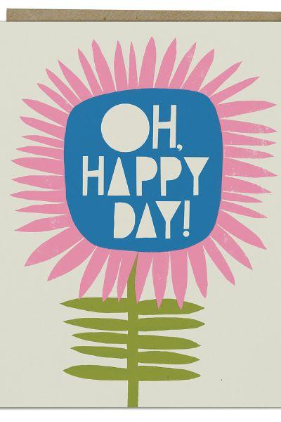 Lisa Congdon Card: Oh, Happy Day